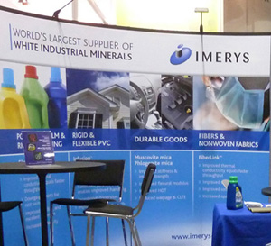 Imerys trade show booth graphics