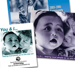 Brochures and booklets for United Way of Santa Barbara County