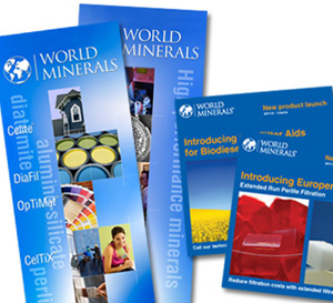 World Minerals trade show booth graphics