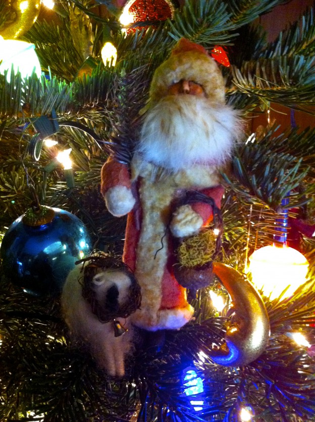 Handmade Santa by Eileen Greene