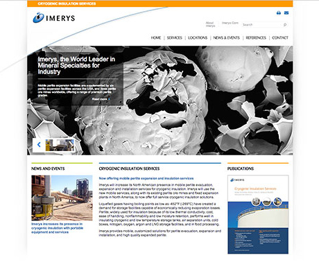 Imerys Filtration website